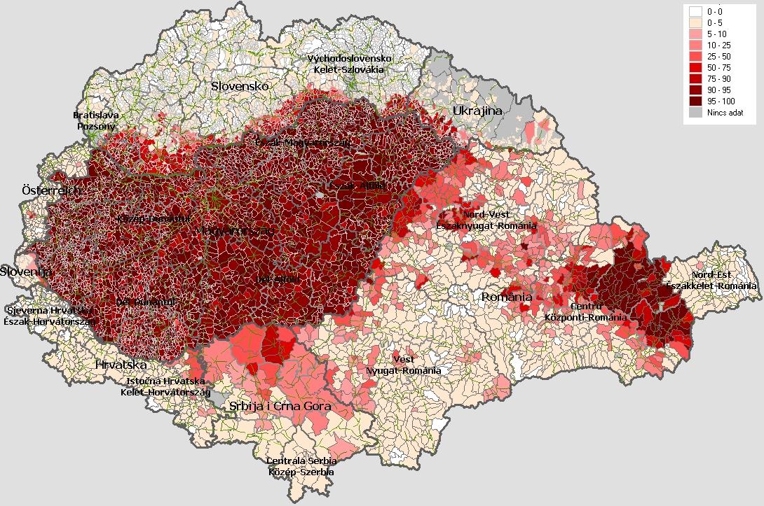 magyarok száma a kárpát-medencében