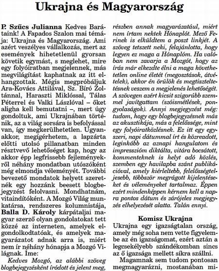 komisz Ukrajna - Mozgó Világ